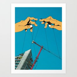 Construction With Strings Attached Art Print