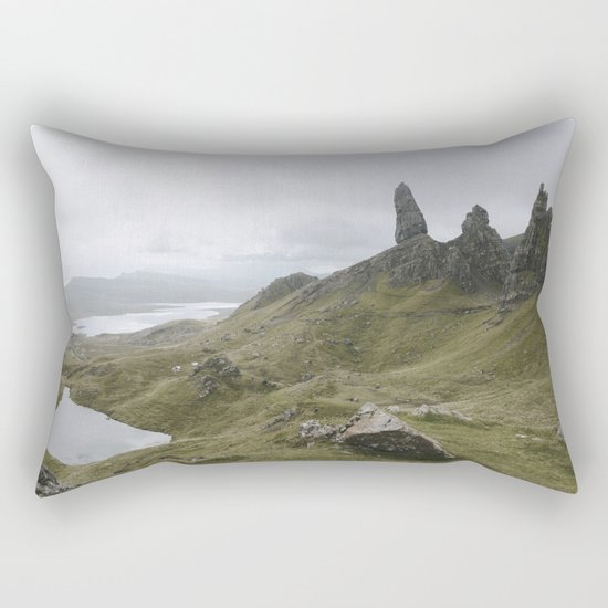 The Old Man of Storr - Landscape Photography Rectangular Pillow