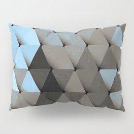 Triangles Blue Putty Pillow Sham