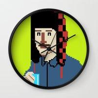 8bit Wall Clocks featuring Self-8bit by Judge Bockman