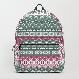 Green pink ornament Backpack