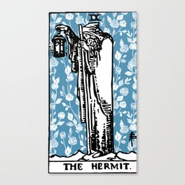 The Hermit - A Floral Tarot Print Canvas Print