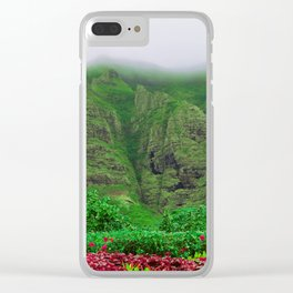 Hawaiian Island Garden Clear iPhone Case