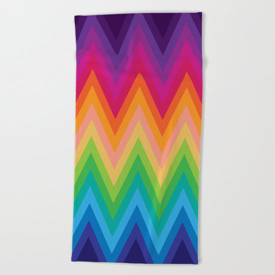 Zig Zag Chevron Pattern G291 Beach Towel
