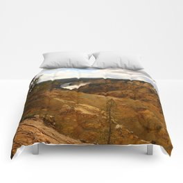 Thundering Waters Of The Yellowstone River Comforters