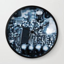 Circuit Board 12 Wall Clock
