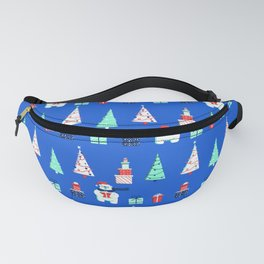 Polar Bears, Christmas Trees, and Presents! (Pattern) Fanny Pack