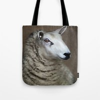 sheep Tote Bags featuring Sheep by ThePhotoGuyDarren