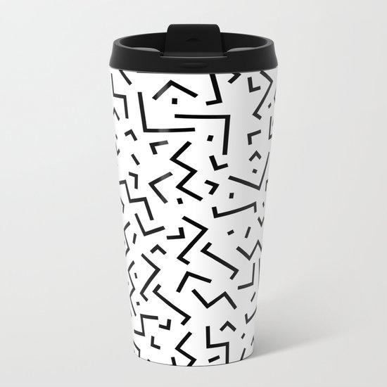 Memphis pattern 30 Metal Travel Mug