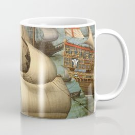 "Hendrick Cornelisz Vroom ""The meeting of Frederic V and Elizabeth Stuart on the sea"" Coffee Mug"