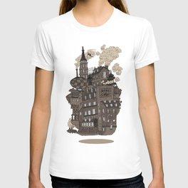 Flying city. T-shirt