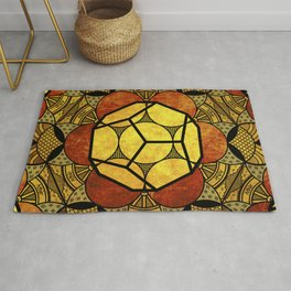 Sacred Geometry for your daily life -  Platonic Solids - ETHER COLOR Rug