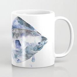 Flat Fish Watercolor Coffee Mug