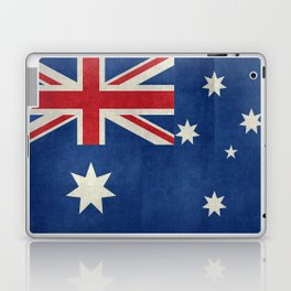 The National flag of Australia, retro textured version (authentic scale 1:2) Laptop & iPad Skin