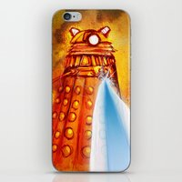 dalek iPhone & iPod Skins featuring Dalek by Tony DaBronzo