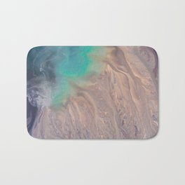The abstract swirl of beach life Bath Mat
