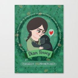 Women in science | Dian Fossey Canvas Print
