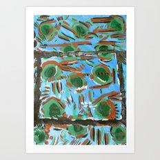 Mississippi Blue Art Print