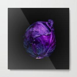 Red Cabbage Metal Print