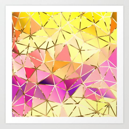 Rainbow Geometric pattern #5 Art Print