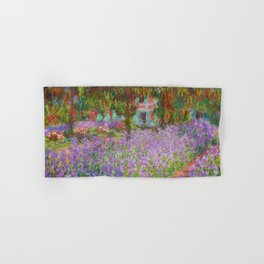 "Claude Monet ""The Artist's Garden at Giverny"" Hand & Bath Towel"