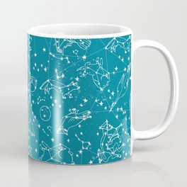 Constellations animal constellations stars outer space night sky pattern by andrea lauren Coffee Mug