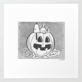 Snoopy Halloween Art Print