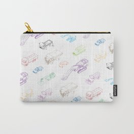 pattern with isometric icons of special equipment and machines Carry-All Pouch