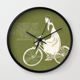 Audrey always knows what to say. Wall Clock