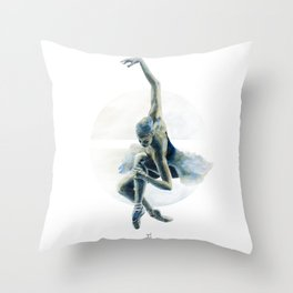 Aquarelle Ballerina 02 Throw Pillow