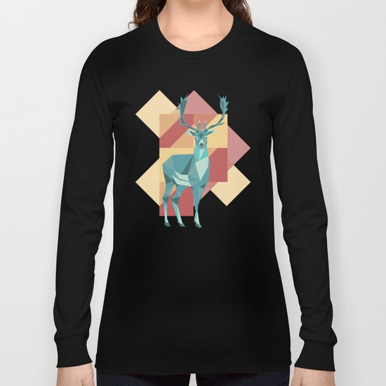 Origami Deer Long Sleeve T-shirt