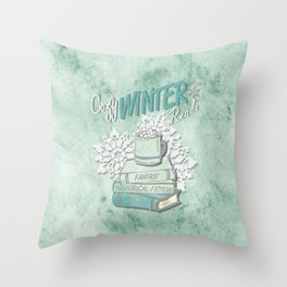 Cozy Winter Reads Throw Pillow