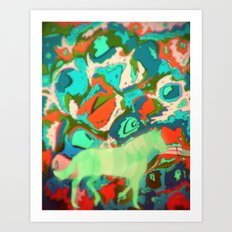 Horse Collaboration Art Print