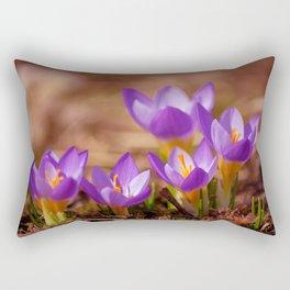 The crocus family Rectangular Pillow