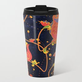 Folk Art Metal Travel Mug