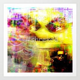 #shreked Art Print