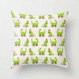 Scootasaurus Throw Pillow