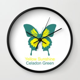 Ulysses Butterfly 1 Wall Clock