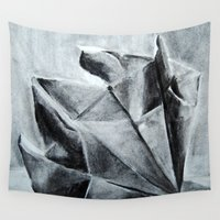 origami Wall Tapestries featuring ORIGAMI by The Traveling Catburys