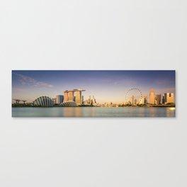 Singapore's Skyline at Sunrise Canvas Print