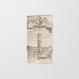 Vintage Roman Colosseum Illustrative Diagram Hand & Bath Towel