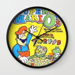 Super MariO's - Breakfast of Superstars Wall Clock