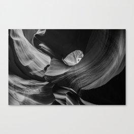 Rock Thread B&W Canvas Print