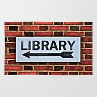 library Area & Throw Rugs featuring Library by Biff Rendar