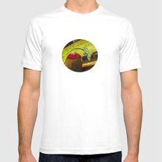 Still...and no one will see MEDIUM White Mens Fitted Tee