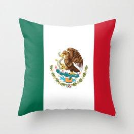 mexican sports fan mexico flag Throw Pillow