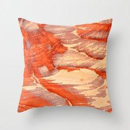 Colorful sandstone in Petra, Jordan (Picture 1) Throw Pillow