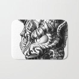 Japanese Demon Mask v.1 Bath Mat