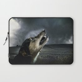 Dog moonlight 1 Laptop Sleeve