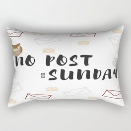No Post On Sundays Rectangular Pillow
